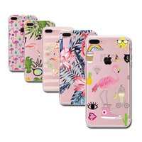 Wholesale Phone Colorful Skins - Fashion Soft Colorful Flamingo Case Cover for iPhone X 8 6 6S 5 5s SE 7 7Plus Transparent TPU Cell Phone Cases Fundas Capa Cute Clear Skin