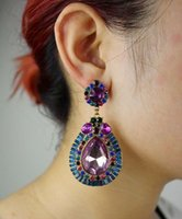 Wholesale Drop Earring Supplies - SE045 Europe and America big adorn article, fashionable, exquisite, new style, flash drill, water drop, vintage earrings, jewelry wholesale