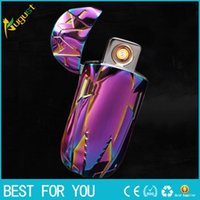 Wholesale Cool Electronics Gifts - Cool waterproof usb lighter electric arc LIGHTERS as gift for men or cigarette smoking tool isqueiro encendedor