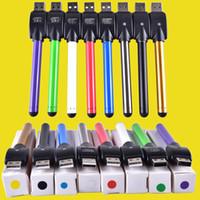 Wholesale usb charger for vaporizer resale online - O pen vape bud touch battery with USB Charger e cigarette cartridges wax oil pens thread for CE3 vaporizer pen cartridges dhl free TZ694