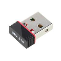 Wholesale wireless n adapter desktop - Wholesale- Ultra-small 150Mbps WiFi Wireless Mini USB Adapter Network LAN Card 802.11 n g b