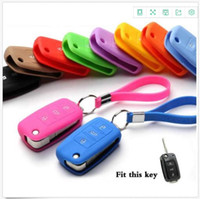 Wholesale volkswagen santana - High quality Silicone car key chain case for Volkswagen VW Lavida Tiguan Passat Sagitar SANTANA
