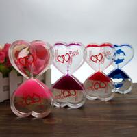 Wholesale Types Male Shoes - Valentine Gift for Girlfriend Women Hourglass Sandglass Timer Art Decorative Sandglass Ampulheta Sand Clock