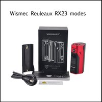 Wholesale High Rate Battery - Top quality Wismec Reuleaux RX 2 3 Box Mod E-Cigarette High-rate 18650 battery Cell 150W RX23 and 200W TC Modes