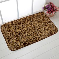 Wholesale Leopard Print Carpet - Wholesale- 3Pcs Set Leopard Print Shape Bathroom Toilet Cover Rug Set Lid Carpet Mat U-shaped Lid Cushion Bathroom Mats Accessories