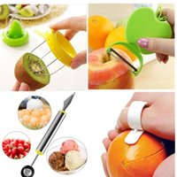 Wholesale kiwi peeler resale online - 4pcs set Home Fruit Kitchen Utensil Gadget Kiwi Apple Peeler Corer Melon baller R571