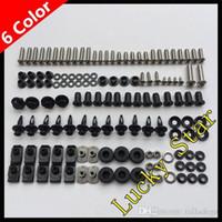 kit de tornillos gsxr al por mayor-100% para SUZUKI GSXR600 GSXR750 GSXR 600 750 GSX R600 R750 2006 2007 06 07 Kit de fijación de tornillos para tornillos de carenado para el cuerpo