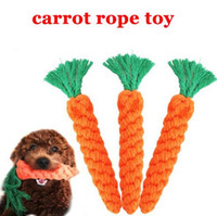 Wholesale Interactive Teddy - Carrot Pet Dog Toy Chew Toys Top Quality 26cm Long Braided Cotton Rope Hand Made Carrot Rope Toy Teddy Dog Puppy Chew Toys