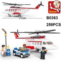 Wholesale Sluban Diy - Sluban Building Block Sets Private Helicopter Model B0363 259pcs Educational DIY Jigsaw Construction Bricks toys for children