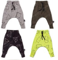 Wholesale High Waist Pants For Toddlers - Boys girls Pants Children Harem Pants Geometric Print Baby Girls Trousers Kids Toddler Cotton Clothing 2017 new pants for 12M-5Y kids