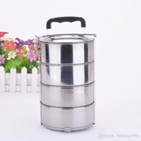 Wholesale Stainless Steel Storage Boxes - Food Lunch Box For Outdoor Sport Camping Picnic Multi Layer Stainless Steel Storage Mess Jar Portable High Quality 9js JR