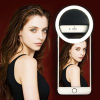Wholesale Galaxy Smartphones - LED Selfie Ring Light Flash Spotlight 3-Level Brightness LED Clips for iPhone Samsung Galaxy Sony Motorola and Other SmartPhones