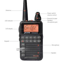 ransceiver microphone Nouveau PuXing PX-2R Portable Radio Talkie Walkie 2W 128CH UHF 400-470 MHz Deux Radio Way Portable Transceiver Portable W ...