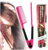 Wholesale Keratin Hair Straightening Wholesale - DIY Folding Hairdressing Salon Styling Brazilian keratin treatment Grip Straightening V Comb NIB