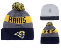 Wholesale Cashmere Hat Sale Women - top Sale RAMS Football Beanies Team Hat Winter Caps Popular Beanie Caps Skull Caps Best Quality Women Men Warm Sports Cap