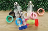 portavasos de goma al por mayor-Nueva taza de taza de goma de silicona almohadilla anti arañazos botella de bebida posavasos taza de vacío manga protectora colores múltiples