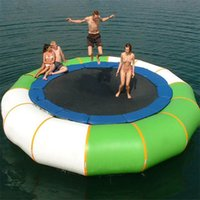 Wholesale Trampoline Jumping - Inflatable Bouncer Trampolines With Extra-Durable Polypropylene Jumping Surface Inflated Water Trampoline Float For A Family For Sale