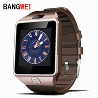 Wholesale Smart Folding Phone - Wholesale- 2016 BANGWEI Smart Watch Clock With Sim Card Slot Push Message Bluetooth Connectivity Android Phone Better Than DZ09 Smartwatch