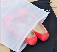 projetos de armazenamento de calçados venda por atacado-Novo Design de 5 Cores Malha Com Cordão Sacos para Sapatos Saco de Armazenamento de Roupas Zakka Organizador Pacote de Viagem Novidade Doméstico