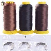 Stainless steel spools of thread - Set Sale Cm Cm Length C Type Weaving Needles Curved Needles And Spools Of Nylon Weaving Thread For Human Hair We