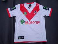 transferencia de camisetas al por mayor-¡Envío gratis! NRL Liga Nacional de Rugby St. George Illawarra Dragons jersey jersey de alta temperatura de impresión de transferencia de calor camisetas de rugby
