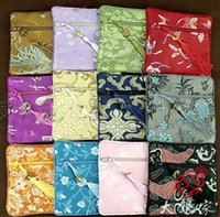 Wholesale Cheap Coin Pouches - Wholesale Cheap 30pcs Chinese Vintage Handmade Silk Gift Bags Jewelry Pouch Coin Purse Free