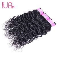 Wholesale Raw Indian Hair Curly - Unprocessed Peruvian Virgin Hair Water Wave 3 Bundles Deal Raw Indian Body Wave Straight Loose Deep Wave Curly Remy Human Hair Bundles Weave