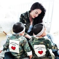 Wholesale camouflage uniforms online - INS hot selling new autumn style cute camouflage uniform style jacket spring fall boy and girl kids casual jacket coat
