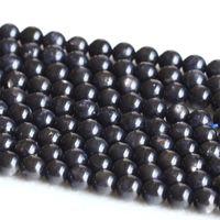 "Wholesale Genuine Gems Beads - Wholesale Natural Genuine Dark Blue Star Iolite Indialite With Flash Light Round Loose Gems Beads 6mm 15"" 05005"