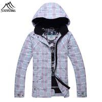 Wholesale Women Snowboard Jacket New - Wholesale- NEW womens snowboard jacket 2016 Waterproof Breathable Winter ski jacket women Snow Coats For Mountain skiing snowboard jacket
