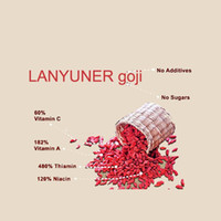 Wholesale LANYUNER Sun Dried Goji Berries Raw Organic Chinese Wolfberry herbal Tea Green Food Health Care Preventative DEC181