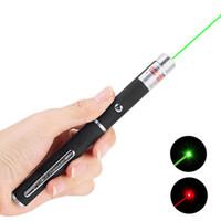 высококачественный зеленый лазер оптовых-Высокое качество 5 мВт Мощный 500M мощный зеленый лазерный указатель луча света Лазерный лазер высокой мощности для наружного выживания (цвет: черный)