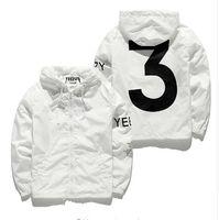 Wholesale Slim Coat Outerwear - Designer Jacket Men KANYE Hip Hop black white Windbreaker Jackets Men Women Streetwear Fashion Outerwear uniform coat men clothing