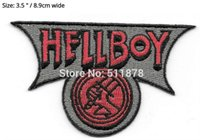 """Wholesale Fancy Embroidered Dresses - 3.5"""" Hellboy Bureau of Paranormal R & D Crest Movie TV Series Fancy Dress Costume Embroidered iron on patch TRANSFER APPLIQUE"""