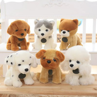 Wholesale Dalmatian Toy Dogs - Wholesale- 35cm Hot Sale Boo Dog Husky Dog Plush Toy Dalmatian Doll simulation Stuffed Animal Cute Plush Toy Kid Toy Best Gift for children