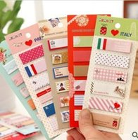 Loose Leaf block sticky notes - Cute Cartoon N Times Stickers Paper Notes Block Sticky Note Pad Post It Bookmark Point It Marker Flags Memo Pad