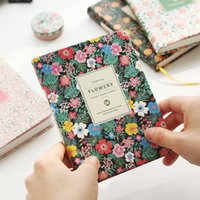 Wholesale Leather Dairies - Wholesale- Vintage Weekly Planner Floral Schedule Dairy Book PU Leather Notebook Lovely Stationery Kawaii School Office Supplies for Girls