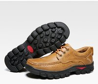 Wholesale Sport Wear Shoes Casual - New hot men's leather shoes, casual shoes are outdoor sports wear shoes lace shoes low male helpers