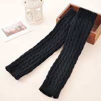 Wholesale Good Boots For Winter - Wholesale- Good quality women winter leg warmer knitted over knee leg warmers for women knitted wool fahsion girl gaiter boot cover