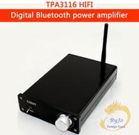 Wholesale Motorcycle Hifi - HiFi output 100W Audio power amplifier Mini TPA3116 Bluetooth 4.0 Digital Amplifier motorcycle mp3 player