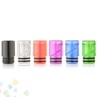 Wholesale E Cigarette Tips Dhl - Colorful Spiral Drip Tip EGo AIO 510 Helical Spiral Drip Tips Best quality E Cigarette Airflow Mouthpiece 6 Colors DHL Free