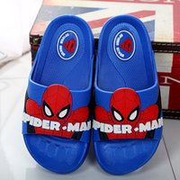 Wholesale Boys Home Slippers - Kids Slippers Summer Shoes Boys Girls Beach Bathroom Slippers Home Shoes children Cartoon soft bottoms slipper16~22cm