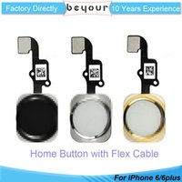 Wholesale Iphone Replacement Cable - High Quality For iPhone 6 6 plus Complete Home Button Flex Ribbon Cable Touch ID Sensor Replacement Part Repair Panel