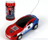 Wholesale rc models cars - New Free Shiping Epacket 8 color Mini-Racer Remote Control Car Coke Can Mini RC Radio Remote Control Micro Racing 1:64 Car 8803