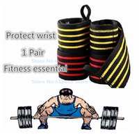 Wholesale Tennis Equipment Wholesalers - Wholesale- Sports Wrist Support Protection Weightlifting Tennis Badminton Wristband Bracer Fitness Gym Equipment L346