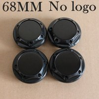 Car Styling KOM POWER 4 PZ 68mm Blank Caps No Logo Blank Badge Emblem Centro Rotelle Tappi Coprimozzo Tappi Copricerchi 68 MM Ruote