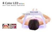 Wholesale Led Light Skin Care Equipment - led skin rejuvenation machine newest red blue yellow green light pdt photon therapy skin care beauty equipment machine