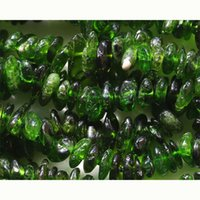 Vente en gros- Vente en gros naturel naturel vert Chrome Diopside Nugget Chip Loose Beads Free Form 3-8mm Fit Jewelry Collier Bracelets 03663