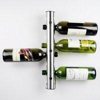 Creative Wine Rack Holders 8 12 Buracos Home Bar Wall Uva Wine Bottle Display Stand Rack Suspension Storage Organizer