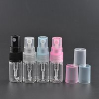 Wholesale Small Glass Containers Wholesale - 2ML mini Glass Spray Perfume Bottle sample parfum atomizer fragrance bottle Small Oil Spray Container F2017121